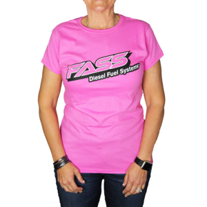 Fass Diesel Fuel Systems Pink Tee Lady