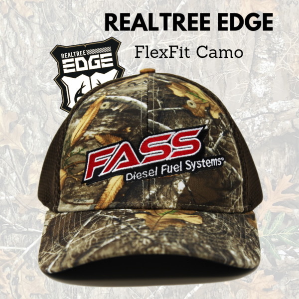 NEW!! FASS REALTREE EDGE Camo FlexFit Hats!!